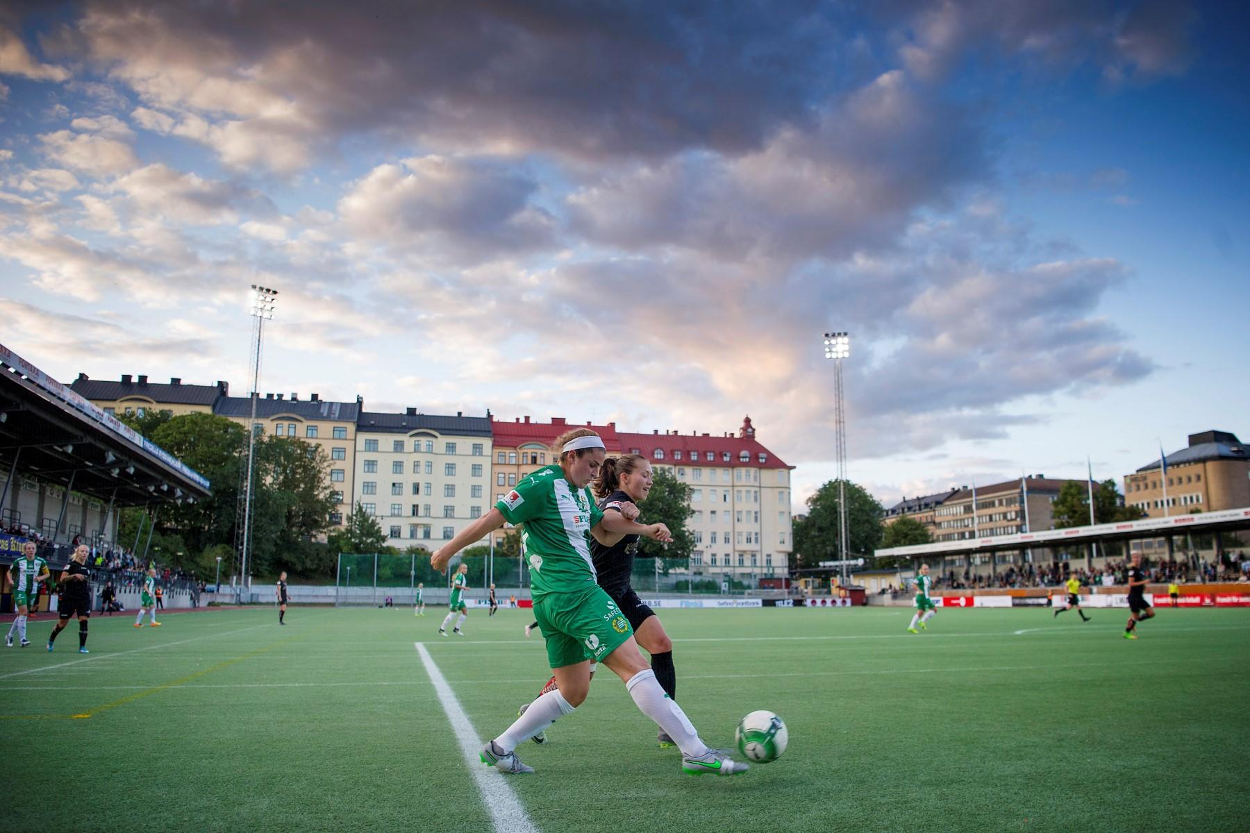 23 augusti, HIF-K/Göteborg 0-0 Bajen fortsatte visserligen att ta poäng, men det var fortfarande oroväckande uddlöst framåt. Närmast här var Filippa Angeldahls stolpträff, inför 656 på Zinkensdamm. (Peter Jonsson) Ekblom: En av våra sämre matcher under säsongen.