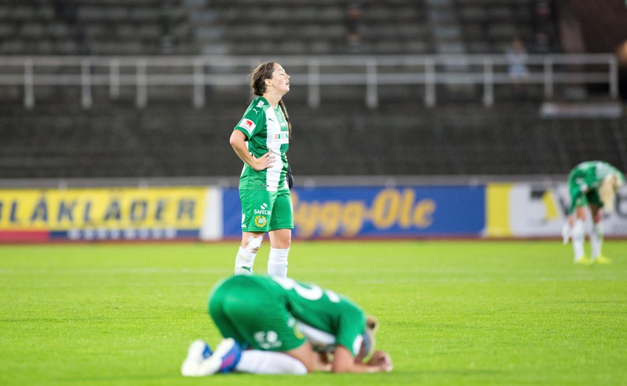 30 augusti, Djurgården-HIF 1-0 Hammarby rådde inte på dom blårandiga heller på bortaplan. Sejde Abrahamsson hade en tidig nick i ribbans översida, men om Emma Holmgren inte storspelat, hade DIF nätat tidigare än med 20 minuter kvar. (Peter Jonsson)