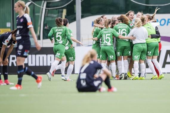 14 maj, HIF-Rosengård 1-0 Hammarbys första allsvenska seger kom istället via en jätteknall mot Rosengård, där den disciplinerade defensiva insatsen gav råg i ryggen, och så småningom banade väg för fler fina resultat. Zigiotti avgjorde tidigt, efter Anna Oscarssons inspel.