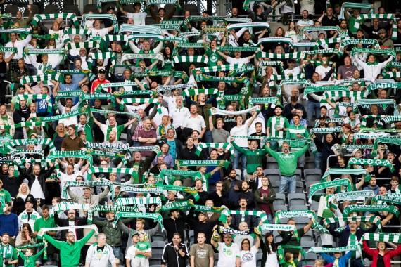 170813 Hammarbys supportar under fotbollsmatchen i Allsvenskan mellan Hammarby och Östersund den 13 augusti 2017 i Stockholm.  Foto: Andreas L Eriksson / Bildbyrån / kod AE / Cop 106