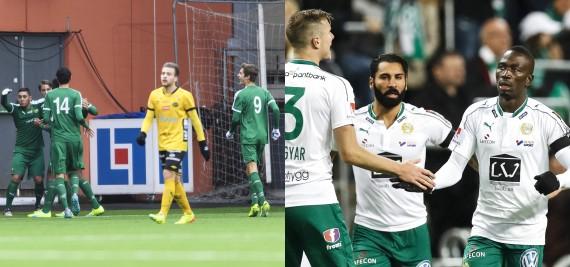 161022 Hammarbys spelare jublar efter 1-1 under en fotbollsmatch i U19 slutspelet mellan Elfsborg och Hammarby den 22 oktober 2016 i Borås. Foto: Jörgen Jarnberger / BILDBYRÅN / Cop 112