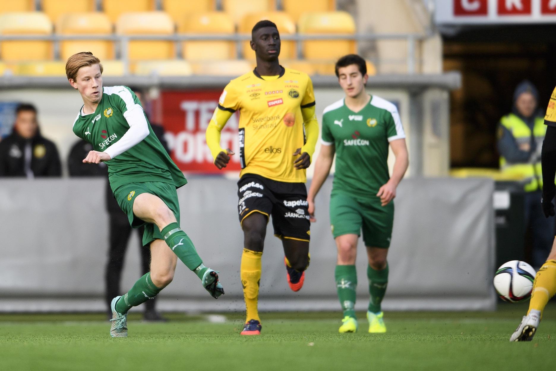 161030 Hammarbys David Nilsson under U17 SM-final i fotboll mellan Elfsborg och Hammarby den 30 oktober 2016 i BorŒs. Foto: Jšrgen Jarnberger / BILDBYRN / Cop 112