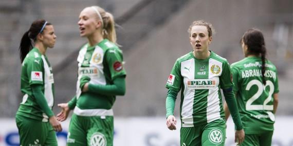 170422 Hammarbys Olga Ekblom deppar efter fotbollsmatchen i Damallsvenskan mellan Hammarby och Linkšping den 22 april 2017 i Stockholm.  Foto: Andreas L Eriksson / BildbyrŒn / kod AE / Cop 106