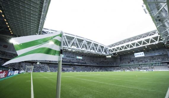 150607 En hörnflagga på Tele2 arena inför fotbollsmatchen i Allsvenskan mellan Hammarby och IFK Göteborg den 7 juni 2015 i Stockholm.  Foto: Johanna Lundberg / Bildbyrån / 135389
