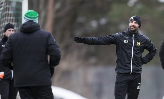 170110 Hammarbys Kennedy Bakircioglu under en fotbollstrŠning med Hammarby den 10 Januari 2017 i Stockholm.  Foto: Kenta Jšnsson / BILDBYRN / Cop 210