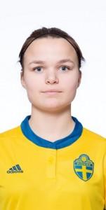 180203 Johanna Lindell  i F17-landslaget poserar fšr portrŠtt den 3 februari 2018 i Stockholm. Foto: Simon HastegŒrd / BildbyrŒn / Cop 118