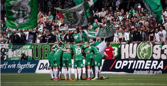 180422 Hammarby samlade innan fotbollsmatchen i allsvenskan mellan HŠcken och Hammarby den 22 april 2018 i Gšteborg. Foto: Michael Erichsen / BILDBYRN / Cop 89