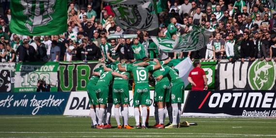 180422 Hammarby samlade innan fotbollsmatchen i allsvenskan mellan Häcken och Hammarby den 22 april 2018 i Göteborg. Foto: Michael Erichsen / BILDBYRÅN / Cop 89