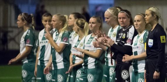 180919 BŒda laguppstŠllningarna och domare innan fotbollsmatchen i Svenska Cupen mellan BollstanŠs och Hammarby den 19 september 2018 i Stockholm. Foto: Dennis Ylikangas / BildbyrŒn / Cop 253