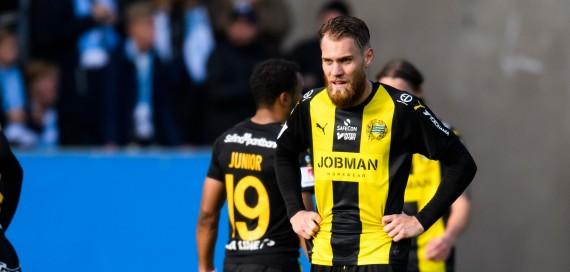 181020 Hammarbys David FŠllman deppar efter fotbollsmatchen i Allsvenskan mellan Malmš FF och Hammarby den 20 oktober 2018 i Malmš. Foto: Petter Arvidson / BILDBYRN / kod PA / 92129