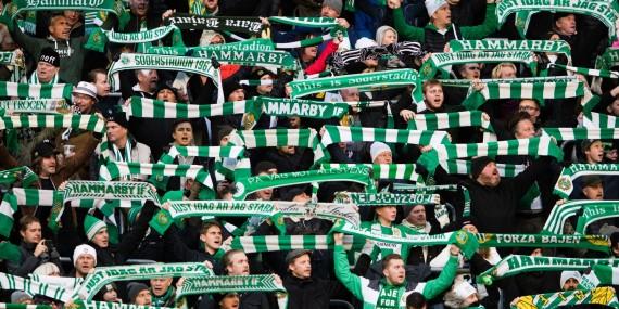 181028 Hammarbys supportrar under fotbollsmatchen i Allsvenskan mellan Hammarby och Kalmar den 28 oktober 2018 i Stockholm.  Foto: Andreas L Eriksson / BildbyrŒn / kod AE / Cop 106