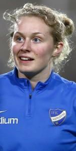 180306  Emilia Larsson under trŠning med IFK Norrkšping DFK pŒ …stgštaporten den 6 mars 2018 i Norrkšping. Foto: JOSEFINE LOFTENIUS / BILDBYRN / Cop 111